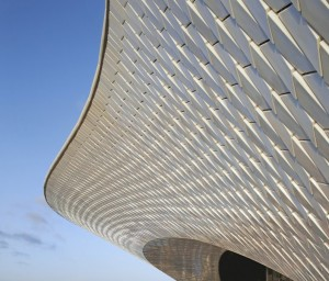 A view of the riverside facade of MAAT Photo Credit: HUFTON + CROW
