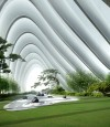Architectural Tourism could take you to Nanjing, China, where you can savor large scale architecture forms with tranquil and contemplative gardens.