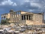 Erechtheum is just outside of the Parthenon in Greece;  an amazing work of art and architecture.