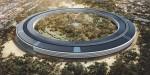 Futuristic Apple campus in Cupertino, CA to open in April.