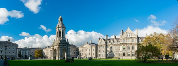 Campanile of Trinity College - beautiful architecture in Ireland