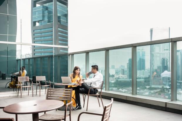 Blurring lines between indoor and outdoor design in commercial buildings