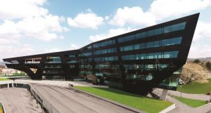 Glass exteriors in commercial buildings